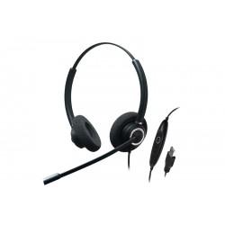 Addasound Crystal SR2832 - Высококачественная USB-гарнитура с шумоподавлением для очень шумной среды UC, Dual