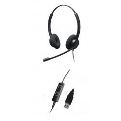 Addasound Epic 832 - Профессиональная Stereo гарнитура USB для Call center и офиса