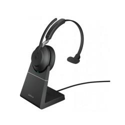 Jabra Evolve2 65, Link380c UC Mono Stand Black [26599-889-889] - Беспроводная моно гарнитура, UC, USB-C+зарядная подставка