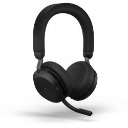 Jabra Evolve2 75 [27599-989-989] - Bluetooth гарнитура, USB-A UC с зарядной подставкой (черная)