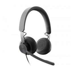 Logitech Zone Wired Headset [981-000870] - Проводная USB-гарнитура, UC