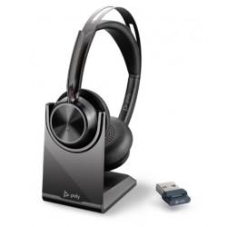 Poly VOYAGER FOCUS 2 UC [214433-01] - Bluetooth гарнитура, с зарядной подставкой, USB-C (Plantronics)